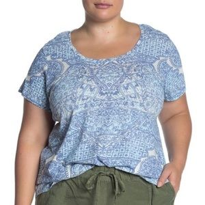 NWT-LUCKY BRAND - Tile Printed Top. Size 1X